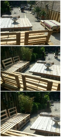 Outside Furniture from Pallets