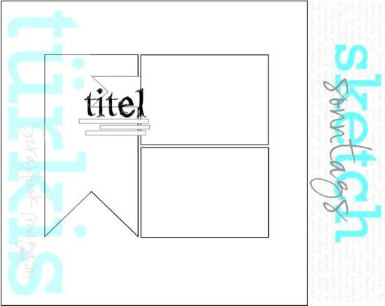 sketch layout scrapbooking