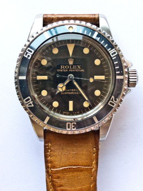 vintage Rolex SubMariner w/ leather band