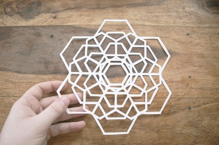 Spirograph Paper Cut by Mr. Yen: This would be lovely hung from a thread. 190 x 190mm. $25.