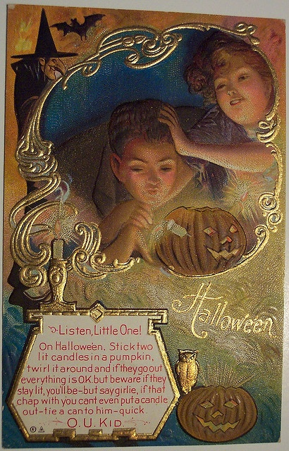 Vintage Halloween Postcard   Nash by riptheskull, via Flickr