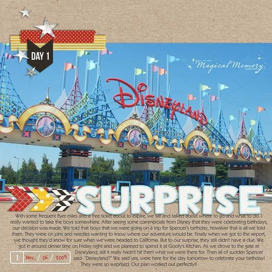 #papercraft #Scrapbook #layout #Disney   Britt-ish Designs Blog