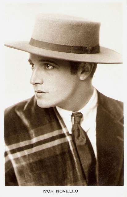 """Ivor Novello (1893 - 1951) was one of the most famous matinee idols, writers and composers of the British stage during the first half of the 20th century."" #vintage #stage #actor #theater"