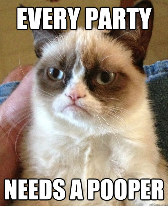 That's why we invited you, Grumpy Cat! #GrumpyCat #Meme