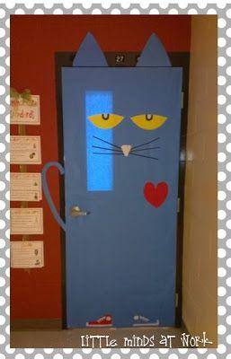 Pete the Cat Classroom Door - - Read Across America Day!
