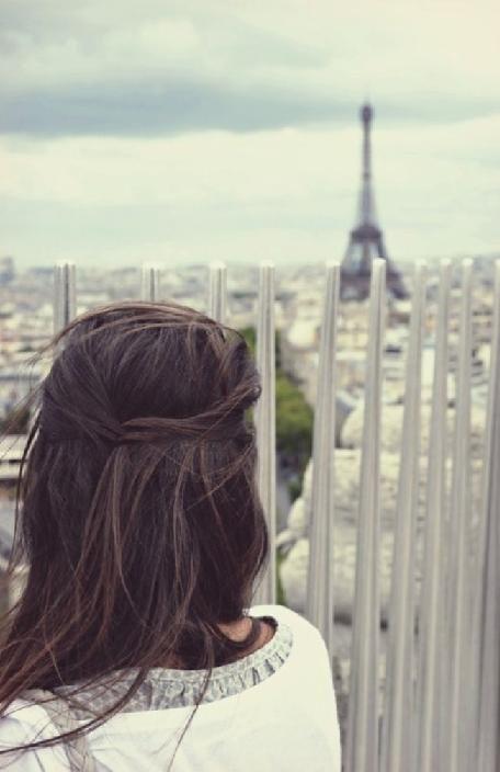 brunette in paris