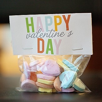 Custom Valentine's Day treat bag topper