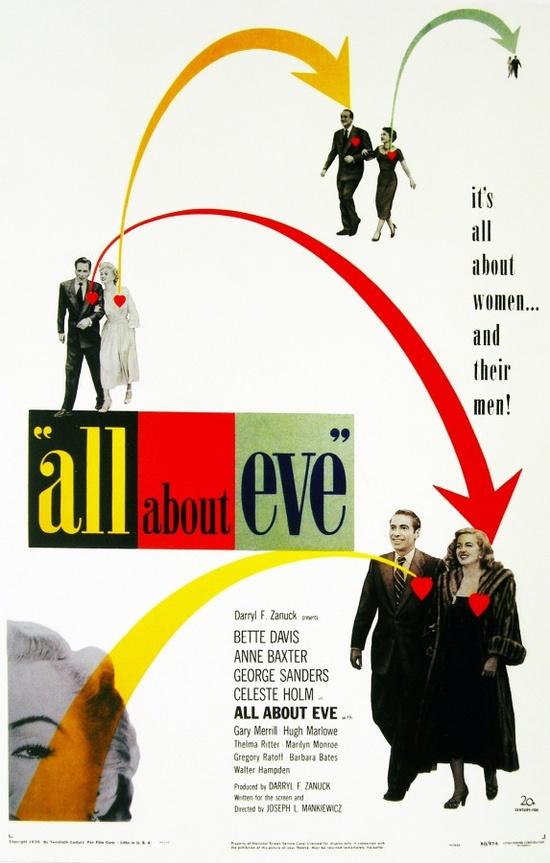 All About Eve (1950) starring Bette Davis, Anne Baxter, George Sanders, Celeste Holm & Gary Merrill