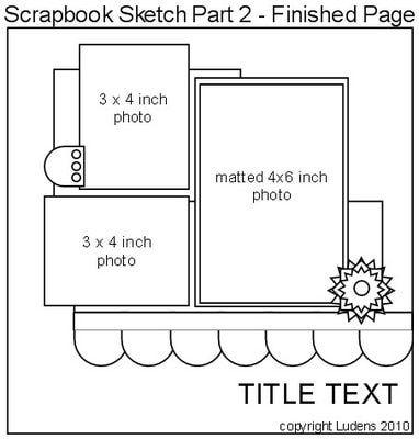 Quick Scrapbook Page Sketch Challenge - Valentine's Day Scrapbooking Idea