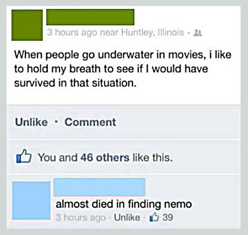 When I see people going underwater in movies…