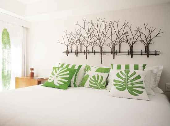 une t te de lit original dans un esprit nature. Black Bedroom Furniture Sets. Home Design Ideas