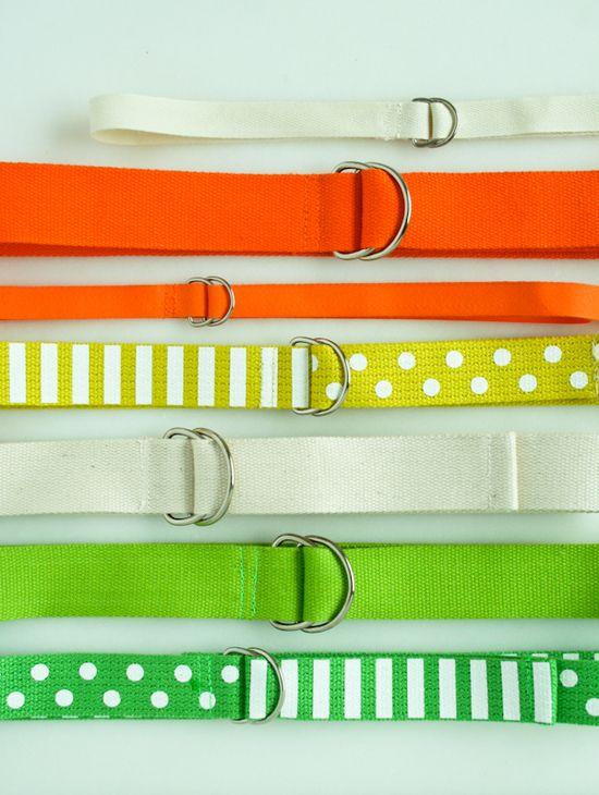 DIY Ribbon Belts