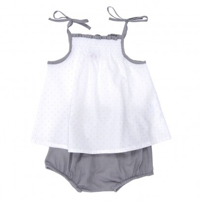 NUMAE  Ensemble Robe - Bloomer Pois Bébé  $70.58