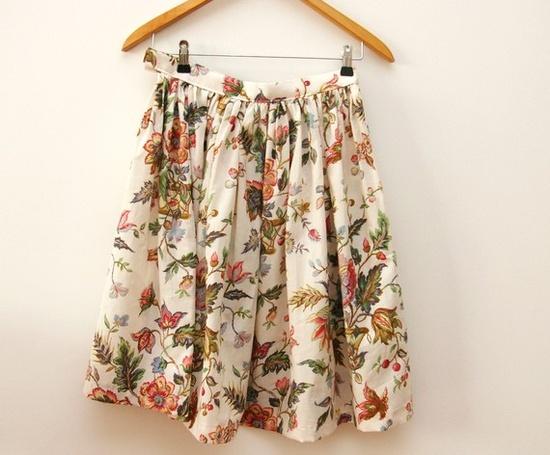 Vintage inspired floral skirt