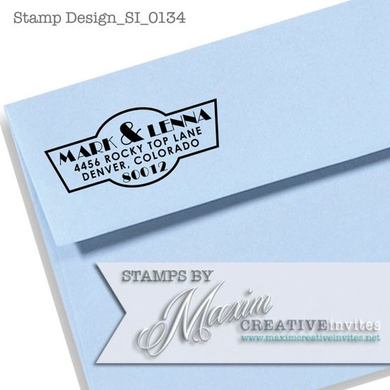 Personalized Self Inking Rubber Stamp Wedding by OhHappyDayStamps, $27.95