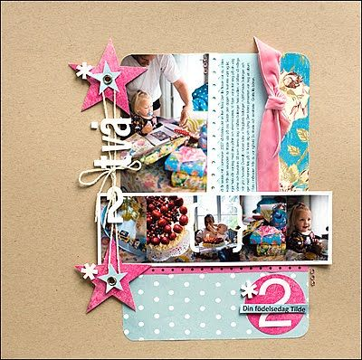 #papercraft #scrapbook #layout This page is amazing.