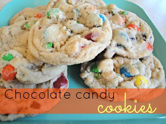Chocolate candy cookies on MyRecipeMagic.com