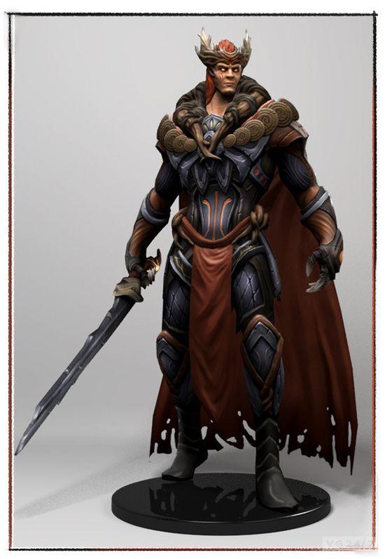 Camelot unchained 1st char model 3D ( Tuatha De Danann)