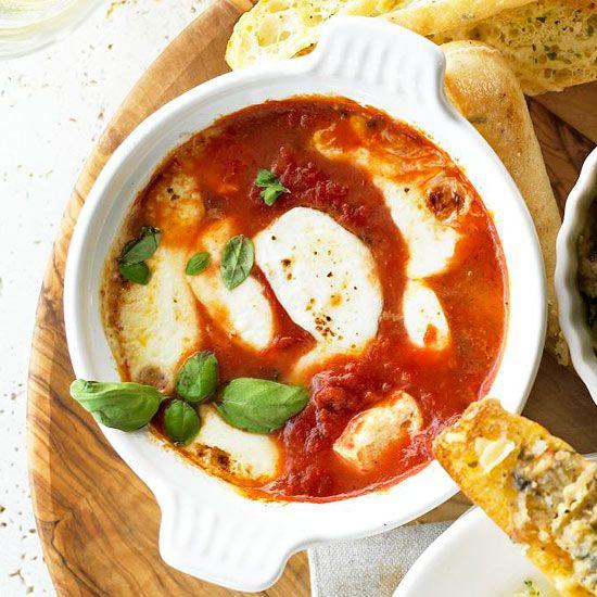 Baked Mozzarella & Tomato Basil Antipasti
