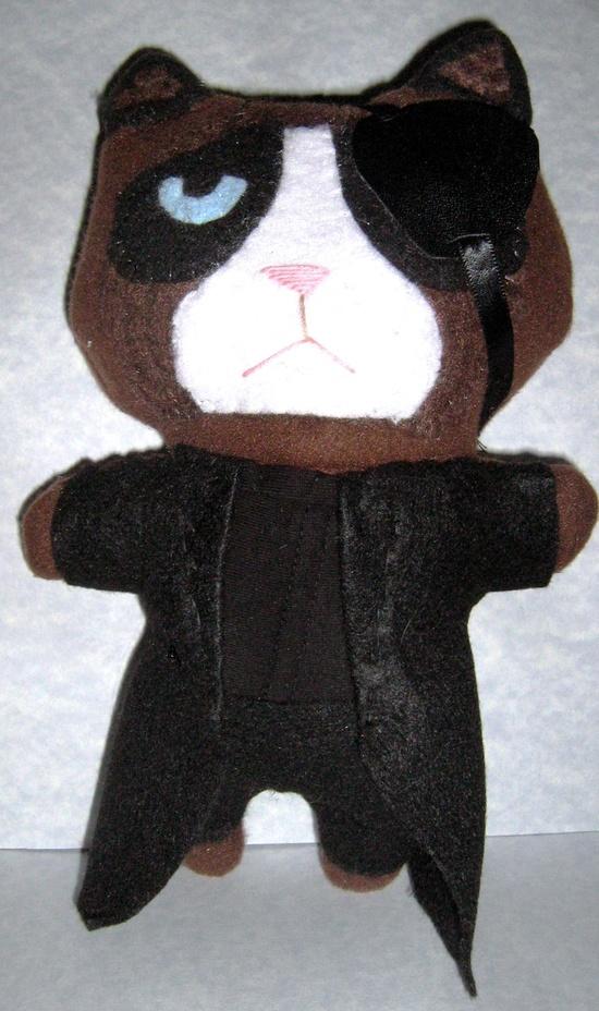 Grumpy Cat Nick Fury Handmade Plushie