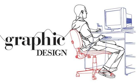 Graphic designing on the computer