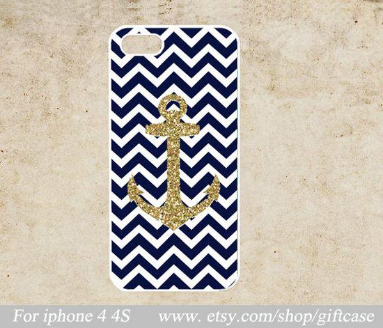 Anchor iPhone Case, iphone 4s case,chevron iPhone Case,Geometric iPhone 4 Case ,cover skin case,hard Plastic Phone  Case