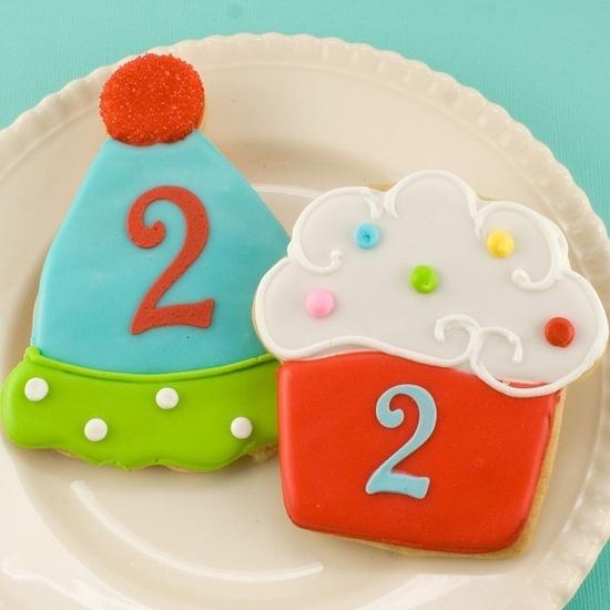 Cute birthday cookies.