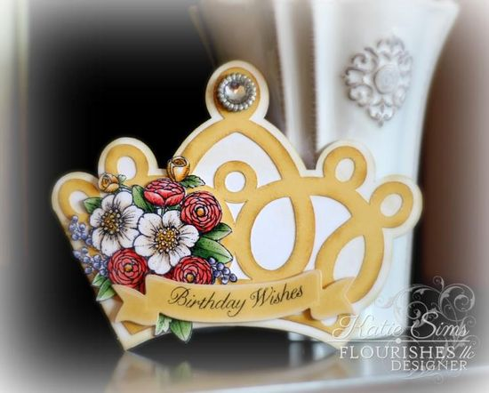 Fit for a Princess handmade Birthday card.