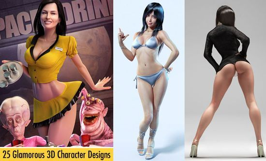 25 Glamorous 3D Character Designs and Hot 3D Models for your