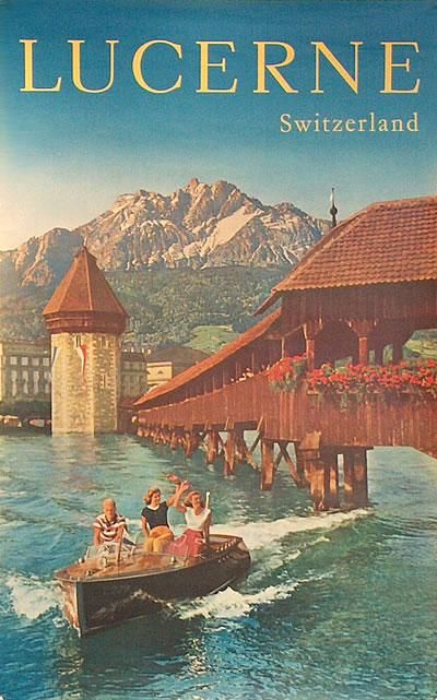 #Lucerne, 1960 poster  #vintage #travel #poster #switzerland  # We cover the world over 220 countries, 26 languages and 120 currencies Hotel and Flight deals.guarantee the best price multicityworldtra...