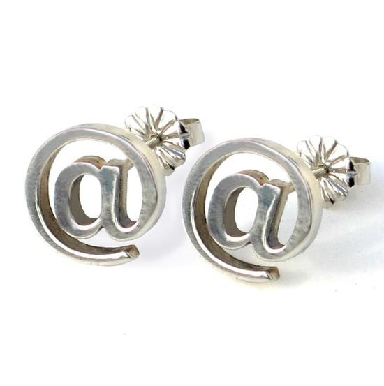 Email Earrings in Sterling Silver. $37