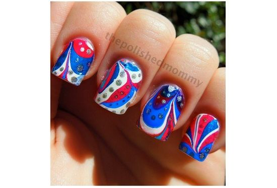 Inauguration-Themed Nail Art : Lucky Magazine