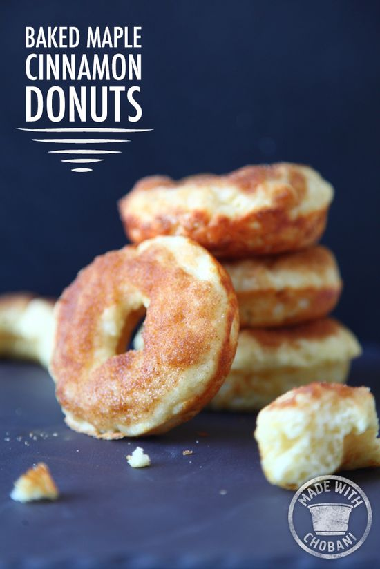 Baked Maple Cinnamon Donuts with Chobani Greek Yogurt