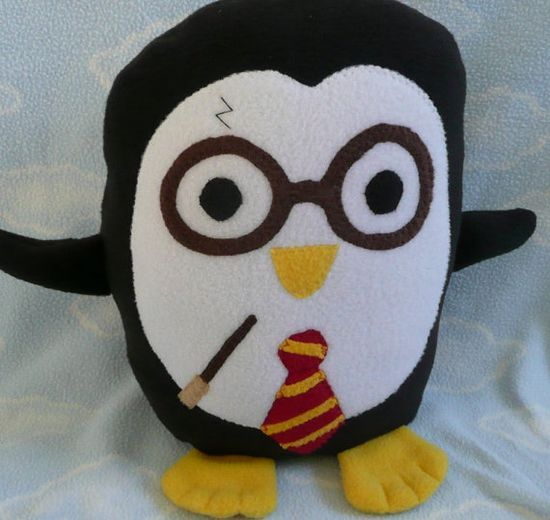 Plush Harry Potter Penguin Pillow Pal PLACE by AnitaKleinDesigns, $22.00