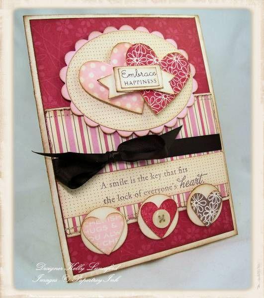 Beautiful valentine handmade card!