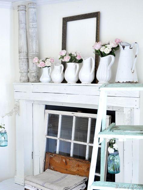 spring mantle- window pane