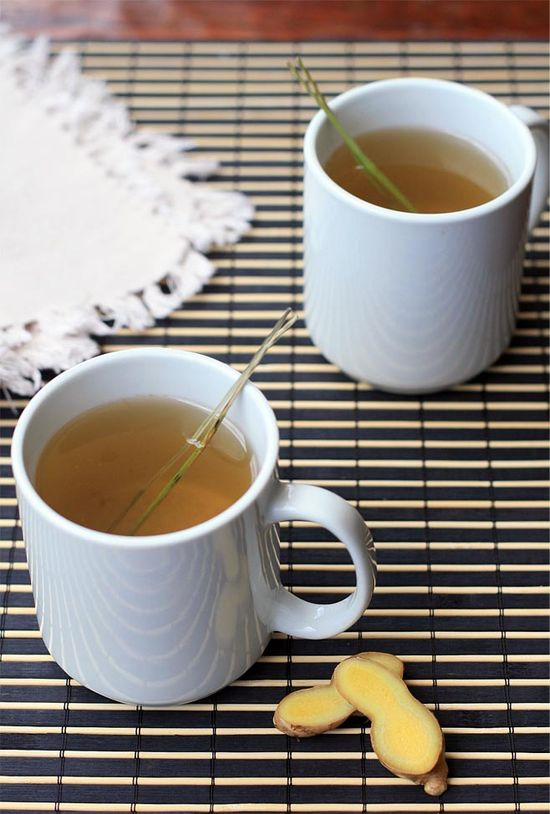 Lemongrass and ginger tea, a soothing caffeine-free drink that's also great for your immune system