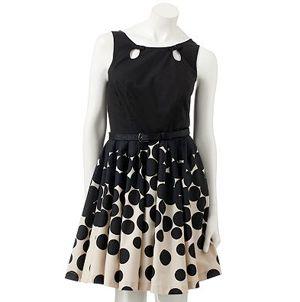 LC Lauren Conrad Dot & Flare Dress