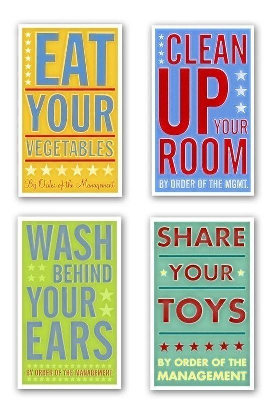 fun wall art idea for kids bathroom