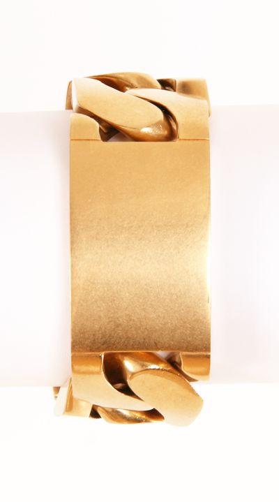 Celine Gold ID Bracelet Gold Brushed
