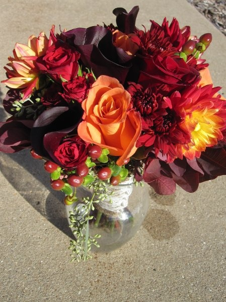 in love with eggplant, dark red, yellow, and rich orange.