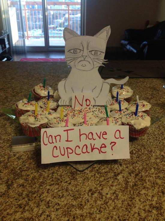 No cupcakes - Grumpy Cat