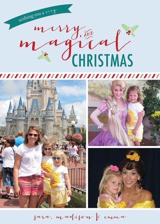 "Christmas Photo Card - Printable, Custom. ""Magical"". $15.00, via Etsy."