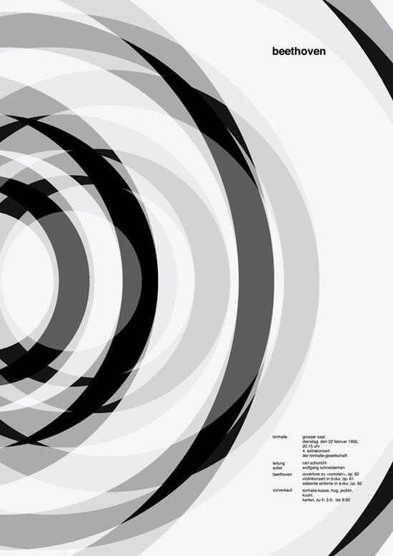 Beethoven Concert Poster - Josef Müller-Brockmann poster