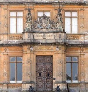 Downton Abbey and Highclere Castle interiors - front-door.