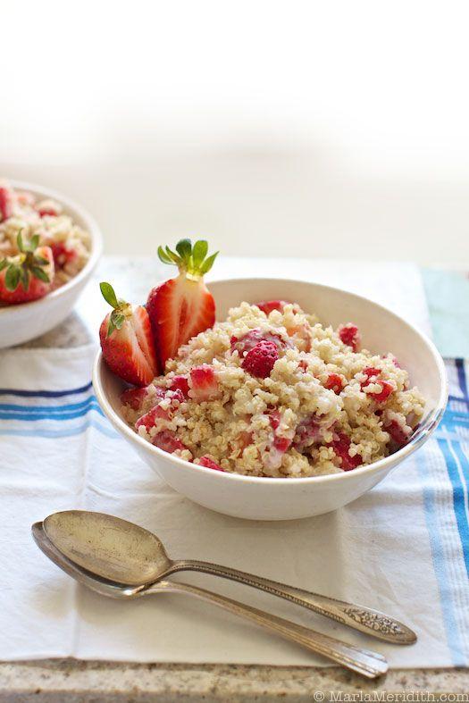 Strawberries n Cream Quinoa Porridge
