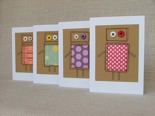 - robot button cards
