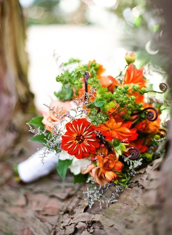 Orange. Photography By / lindseyocker.com, Floral Design By / bowler-and-jones.com