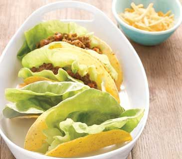 Use lettuce leaves to keep taco fillings contained, even if the shell breaks.