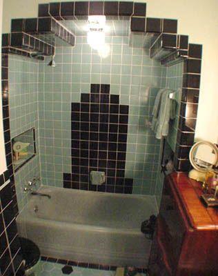 love the art deco shower/tub